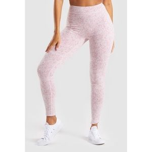 Gymshark Fleur Texture Leggings Dusky Pink Marl, S